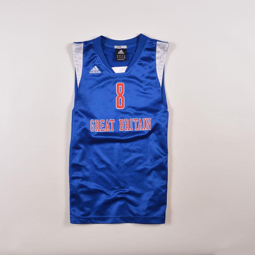 Adidas Hommes Maillot Jersey Taille XS GREAT BRITAIN #8 D. bleu, Sullivan bleu, D. 27760 b34f93
