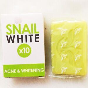 70g-Whitening-Skin-Glutathione-Anti-Aging-Reduce-Acne-Body-Face-Snail-White-Soap