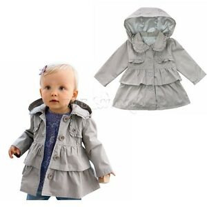 winterjacke m dchen mantel baby kinder jacke trenchcoat. Black Bedroom Furniture Sets. Home Design Ideas