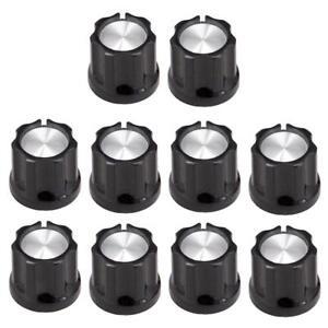 ottima qualità rivenditore di vendita designer nuovo e usato Dettagli su 10 pezzi pulsanti manopole tono nero per parti di amplificatori  per basso