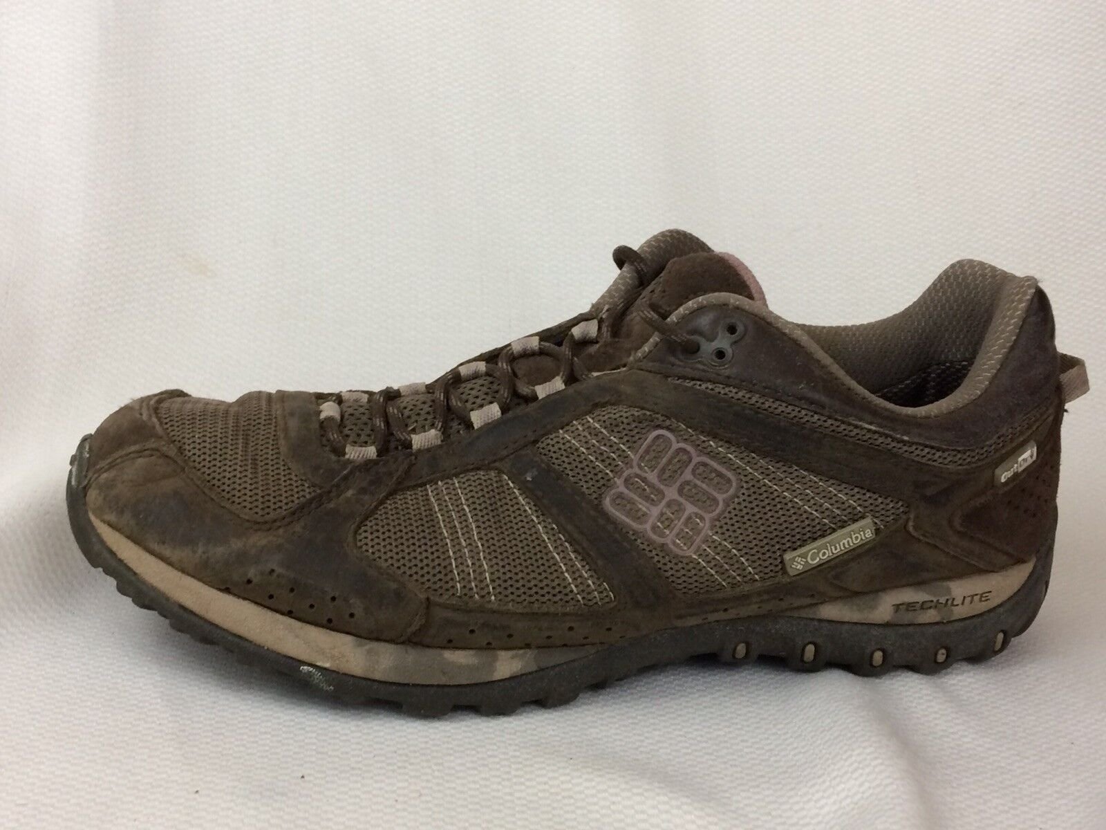 Columbia Womens 10.5 M Yama OutDry Hiking shoes Sneaker Waterproof Brown Leather