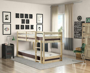 Strictly Beds and Bunks - Stockton Low Classic Bunk Bed, 2ft 6 Single (EB69)