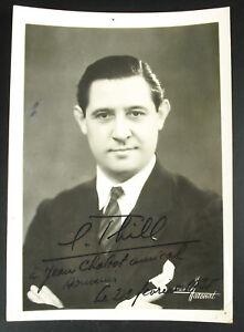 Autographe daté 1935 de Louis? L Thill à Jean Chabot acteur Cinéma photographie