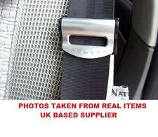 2Pcs SILVER Car Seat Belt Strap Adjuster Stopper Buckle comfort clips Traveling