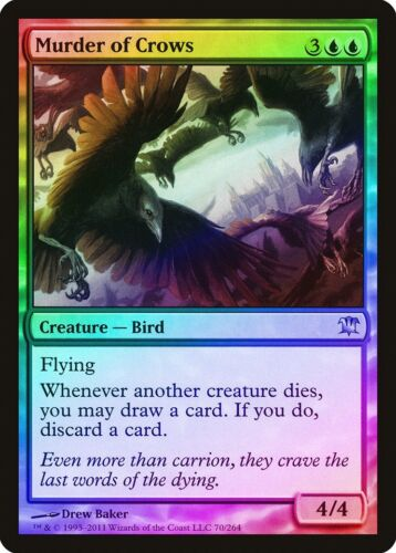 Murder of Crows FOIL Innistrad NM-M Blue Uncommon MAGIC GATHERING CARD ABUGames