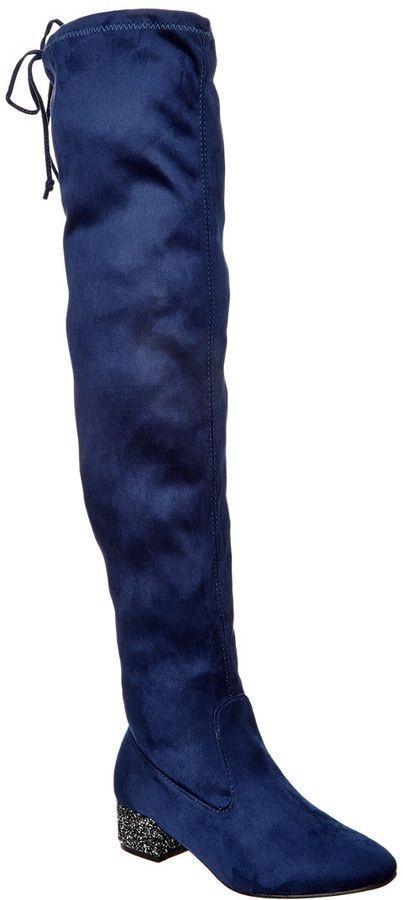Catherine Malandrino Glitzy Over-The-Knee Boot 8.5 Blau Größe 8.5 Boot c7a749