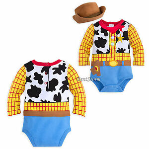 Toy Story Cowboy Woody Costume Bodysuit   Hat for Baby Disney Store ... 8121528b10a