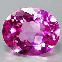 AAA Rated Oval Faceted Bright Pink Lab Created Sapphire (5x3mm to 20x15mm)
