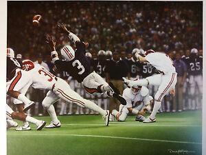 "Daniel Moore ""The Kick"" Alabama Football Lithograph Print"