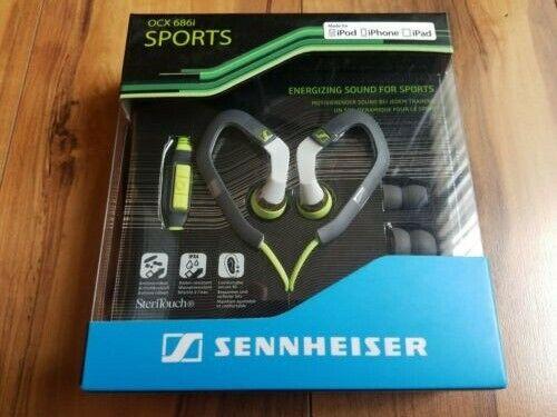 Black//Green Sennheiser OCX 684i Ear Canal Sports Headphone