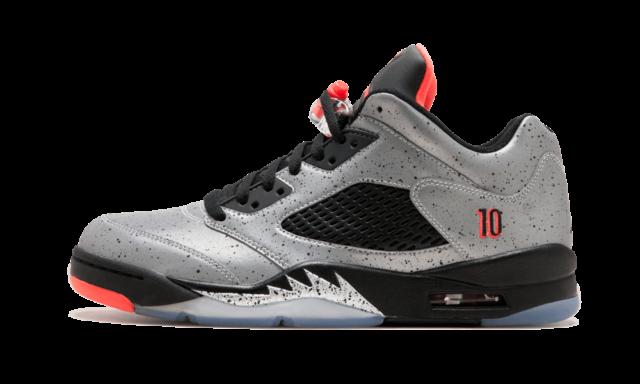 9e81fa58c8859f Nike Air Jordan 5 V Retro Low Neymar SZ 10 Silver Infrared 23 Black 846315-