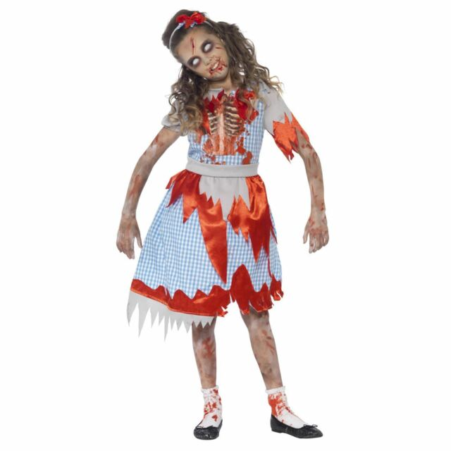 Halloween Zombie Costumes For Girls.Country Girl Zombie Costume Fancy Dress Halloween Girls Dorothy Kids Horror