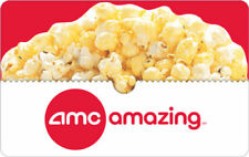 $50 AMC Physical Gift Card +Free Popcorn Voucher -FREE 1st Class Mail Delivery!!