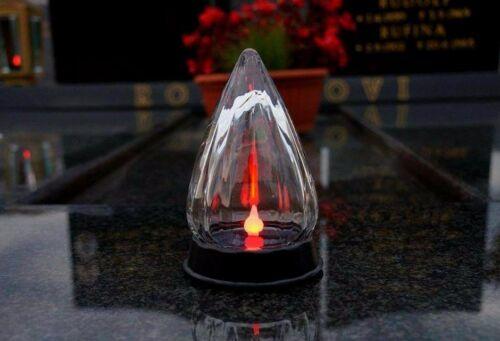 NUOVO Tomba lampada solare pezzo unico 15 cm di altezza CCA 10 cm di larghezza