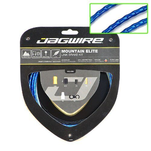 Jagwire Mountain MTB Elite Link Teflon Coated Brake Cable Kit , blu