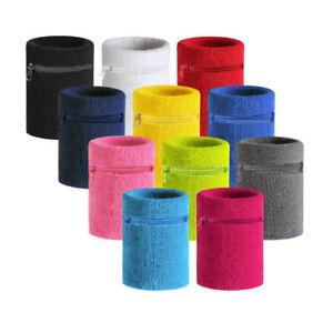 Terry-Cloth-Wrist-Band-Sweatband-Sports-Running-Wristband-Pocket-Wallet-Armband