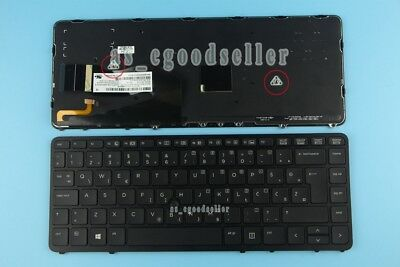 for HP EliteBook 850 G2 740 G1 740 G2 KEYBOARD Silver Backlit Norwegian Tastatur