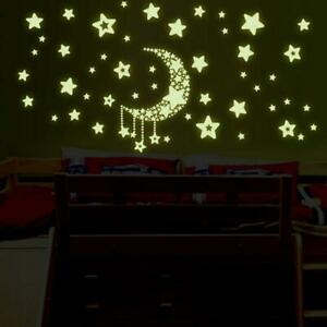 Night-Removable-Home-Wall-Stickers-Moon-and-Stars-Glow-In-The-Dark-Bedroom