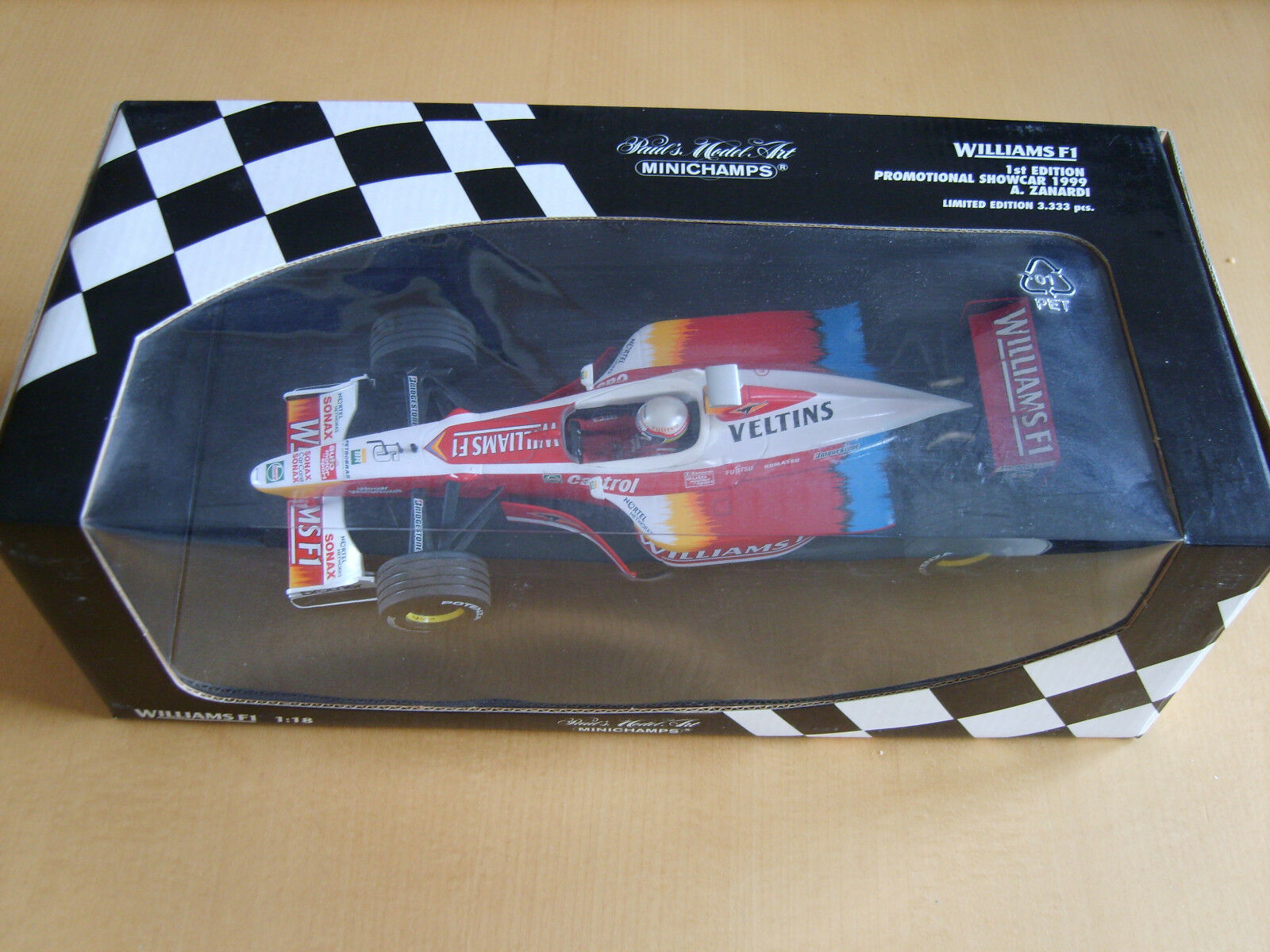 1 18 Minichamps ALEX ZANARDI in Williams PROMOZIONALE Showcar 1999