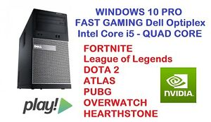 Dettagli su Fast Gaming DELL PC Desktop Core i5 HDMI nVidia Grafica Play  fortnite Win 10- mostra il titolo originale