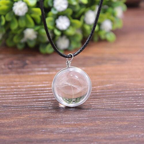 Cadeau Anniversaire Loving naturelle Botanique Dandelion souhaitant Ball Fois Collier