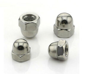 M3 M4 M5 M6 M8 M10 M12 M14 M20 304/316 SS Ball Knobs HEX Acorn Nuts