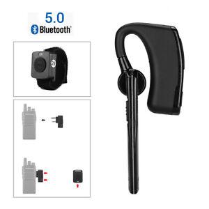 Wireless Bluetooth Earphone V5.0 PTT Remote for Baofeng Walkie Talkie 2way Radio