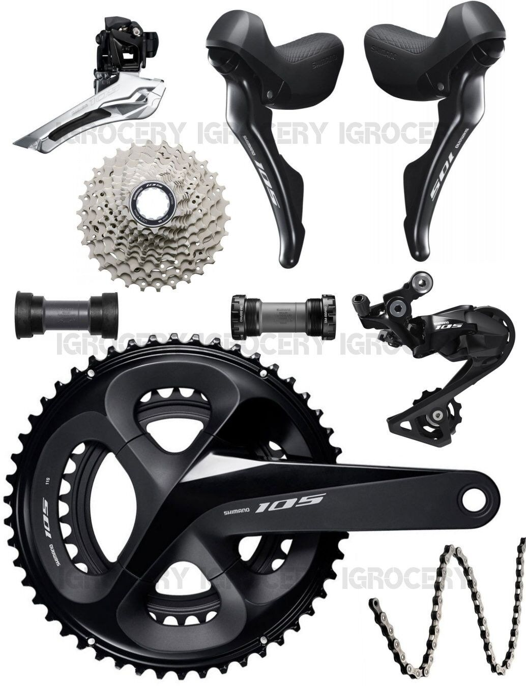 Shimano 105 R7000 Groupset 2x11-speed Road Bike  7Pcs Mechanical New (52 36T GS)  healthy