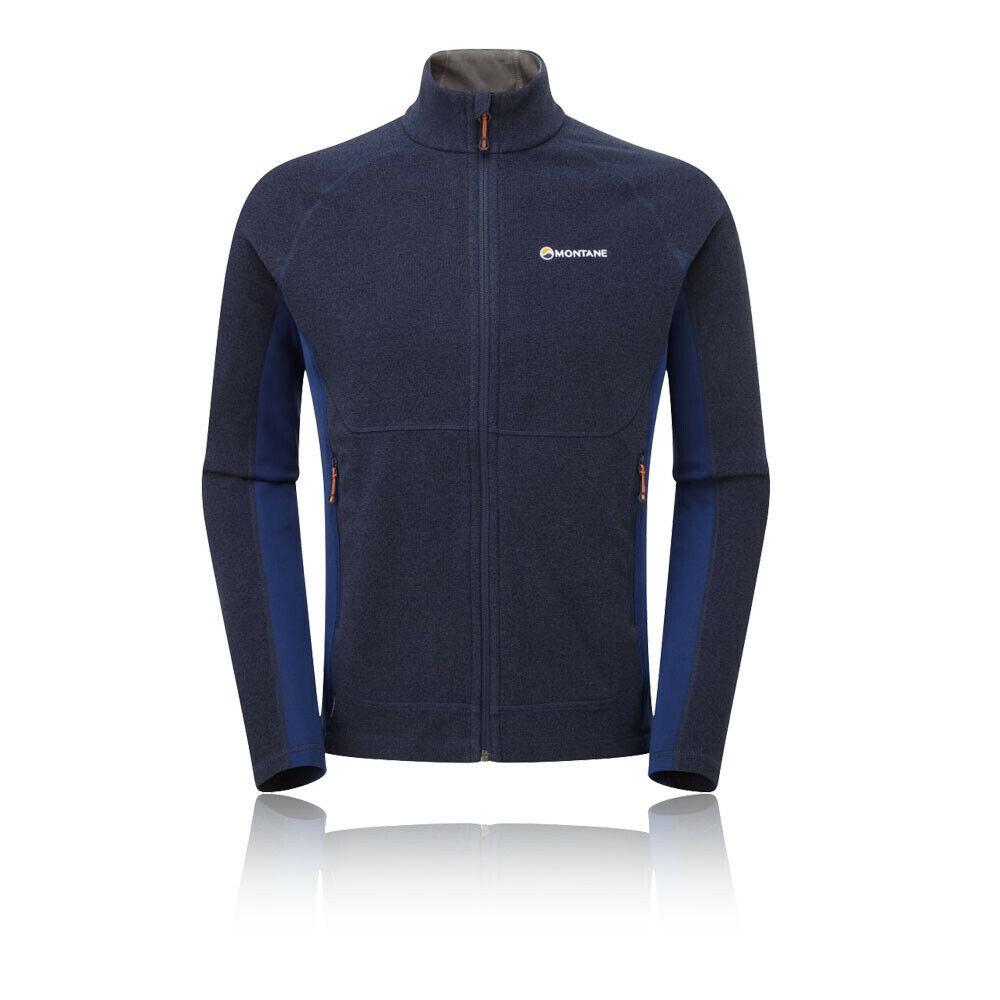 Montane Mens Pulsar Jacket Top Navy Blau Sports Outdoors Full Zip Breathable