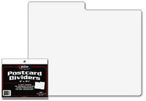 10-BCW-White-Postcard-Dividers-Tabbed-Archival-Safe-For-Indexing-and-Storage