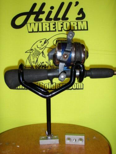 "Fishing Rod Holders coated 0 degree  5/"" stems  2-screw bases Reel Fisherman 6"