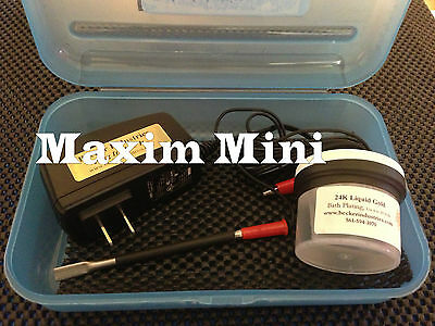 Mini Plater 24kt Gold Plating Machine, kit, includes 24K Yellow Gold