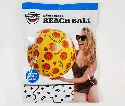 """Pool Party Water Toy BigMouth Inc Giant 20/"""" Pizza Pie Inflatable Beach Ball"""