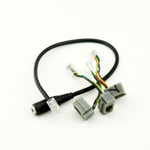 3.5mm Female Jack to 4P4C RJ9 Male Headset Phone Audio Adapter Converter Cable