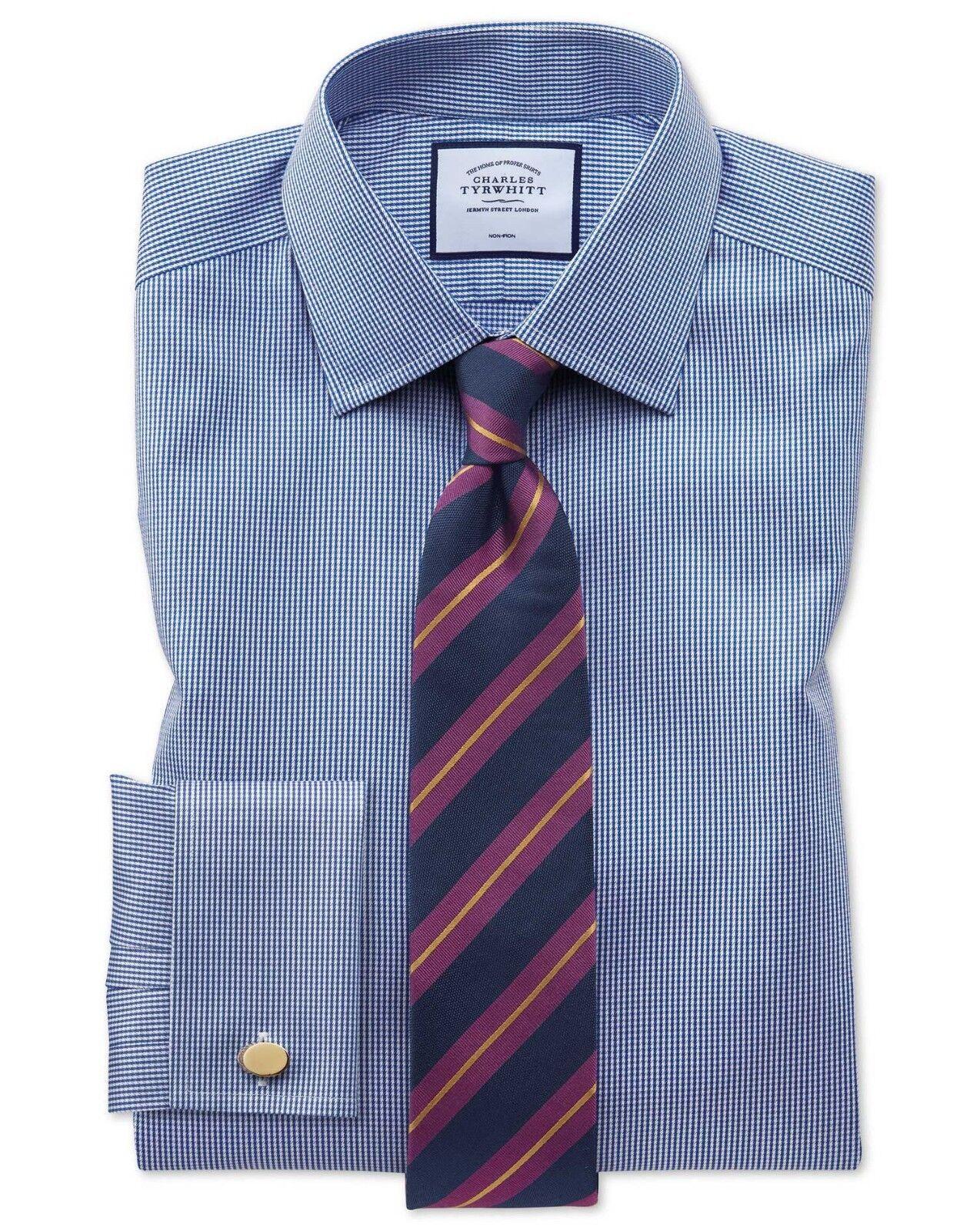 Charles Tyrwhitt Puppytooth Double Manchette Classique Puppytooth Tyrwhitt shirt 16.5