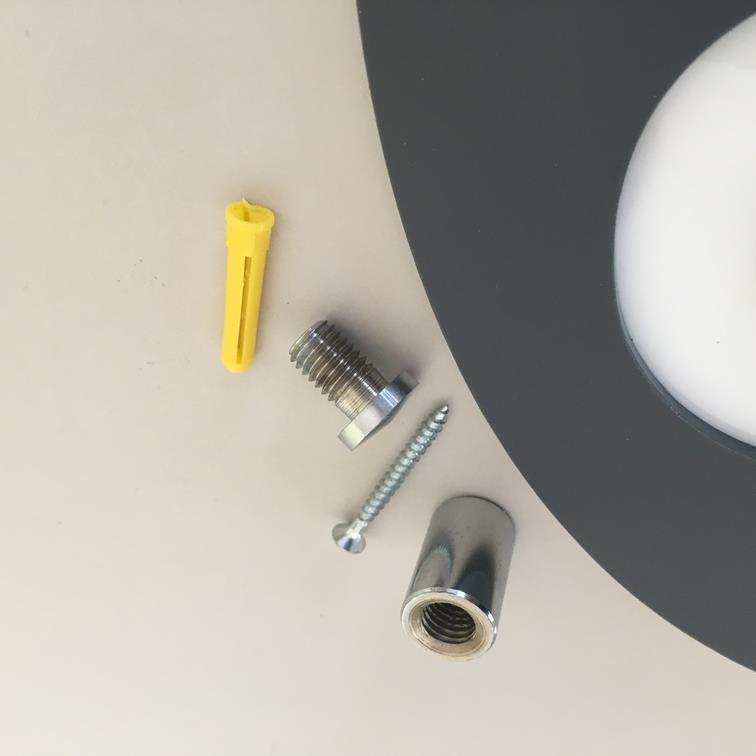 rojoondo SHOWER Letrero - Negro Negro Negro blancoo Brillo & Cromado FERRETERíA de fijación 7f9921