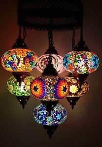 Turkish Morrocan Style Mosaic Multicolour Hanging Lamp