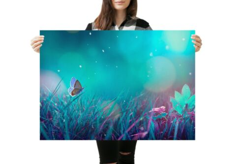 A1 Enchanted Forest Butterfly Poster Art Print 60 x 90cm 180gsm Fun Gift #14929
