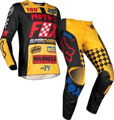 THOR SECTOR Youth Motocross Bambini jersey e pantaloni 2018-Lime Nero Motocross