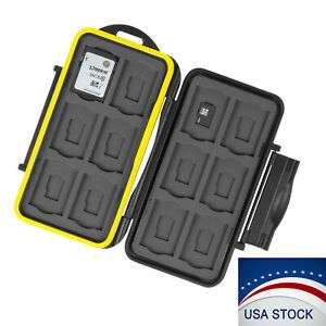 Memory-Card-Case-Holder-Storage-Fits-12-SD-12-Micro-SD-TF-Cards-Water-Resistant