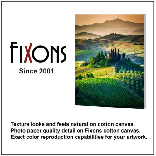 "Cotton Canvas Matte for Epson Printers 2 Rolls 36/"" x 40/'"