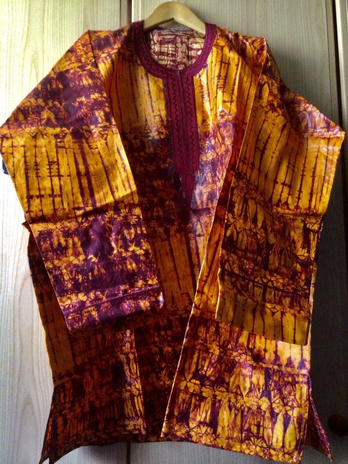 African Tye & Dye Mens Top ~ New! Size XXXL!