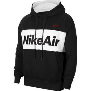 Ordenanza del gobierno Celsius Familiar  Nuevo con etiquetas hombre Nike Air Sportswear Fleece Sudadera Con Capucha  CJ4824-010 Negro/Rojo/blanco grande | eBay