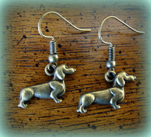 Doxie DACHSHUND Dog Jewelry EARRINGS Weiner Sausage Puppy Pup Doggy
