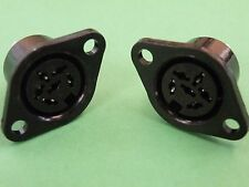 2 Pcs Standard 6 Pin DIN Audio / Gen Purpose Chassis Socket EW21