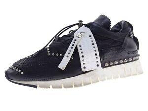 A.S.98 Damen Schuhe Sneaker Laufschuhe Freizeitschuhe Gr 41 Leder Schwarz