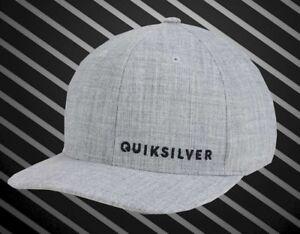 NEU-Quiksilver-Sideliner-Heather-Gray-Flex-Herren-Cap-Muetze