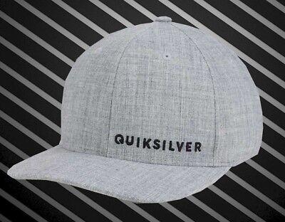 New Quiksilver Sideliner Dark Gray Flex Mens Cap Hat