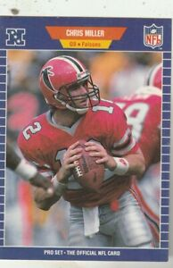 FREE-SHIPPING-MINT-1989-NFL-Pro-Set-12-Chris-Miller-FALCONS-PLUS-BONUS-CARDS