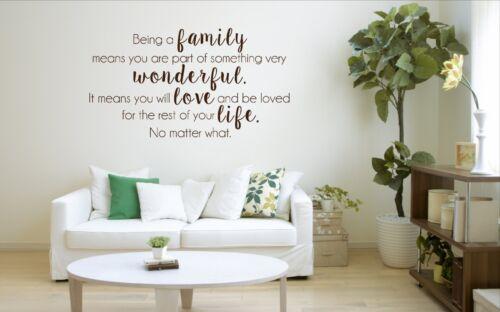 home decor love wall art vinyl decal sticker Being A Family